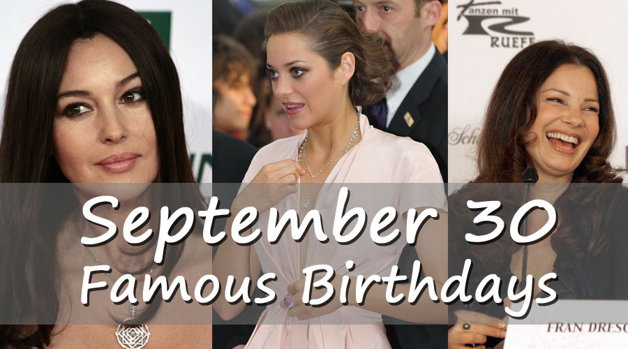 September 30 - Famous Birthdays - On This Day