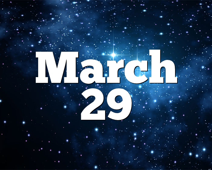 29 of march horoscope