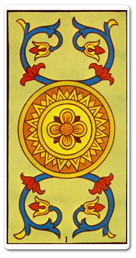 Ace of Pentacles tarot meaning : love, finances, future, yes