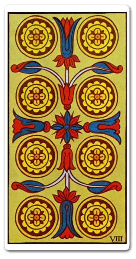 Eight of Pentacles tarot meaning : love, finances, future