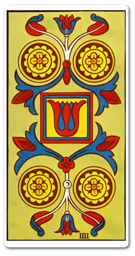 Four of Pentacles tarot meaning : love, finances, future