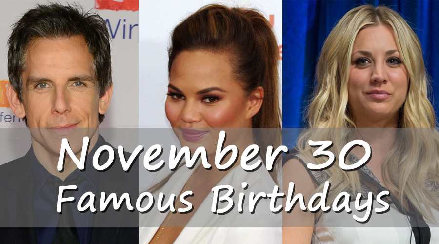 Today's Famous Birthdays of Celebrities/Famous People