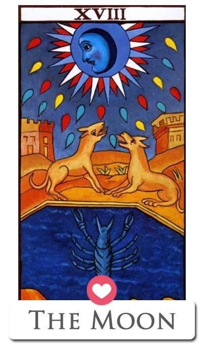 love tarot moon