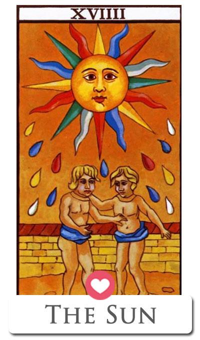 tarot love sun