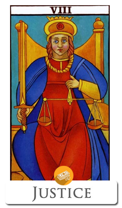 justice finance tarot