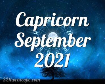 Capricorn September 2021